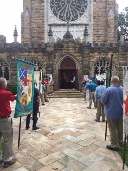 All Saints banner procession